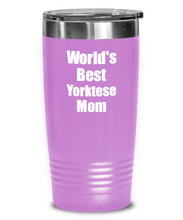 Load image into Gallery viewer, Yorktese Mom Tumbler Worlds Best Dog Lover Funny Gift For Pet Owner Coffee Tea Insulated Cup With Lid-Tumbler