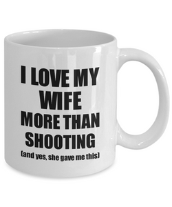 Shooting Husband Mug Funny Valentine Gift Idea For My Hubby Lover From Wife Coffee Tea Cup-Coffee Mug