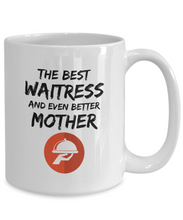 Load image into Gallery viewer, Waitress Mom Mug Best Mother Funny Gift for Mama Novelty Gag Coffee Tea Cup-Coffee Mug