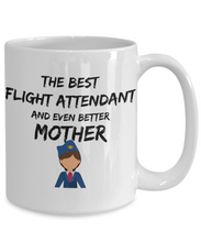 Load image into Gallery viewer, Flight Attendant Mom Mug Best Mother Funny Gift for Mama Novelty Gag Coffee Tea Cup Blue Suit-Coffee Mug