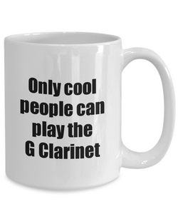 G Clarinet Player Mug Musician Funny Gift Idea Gag Coffee Tea Cup-Coffee Mug
