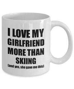 Skiing Boyfriend Mug Funny Valentine Gift Idea For My Bf Lover From Girlfriend Coffee Tea Cup-Coffee Mug