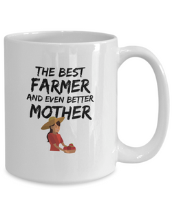 Farmer Mom Gift Best Mother Funny Mug for Mama Novelty Gag Coffee Tea Cup-Coffee Mug