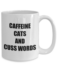 Load image into Gallery viewer, Cafeine Cats And Cuss Words Mug Funny Gift Idea for Novelty Gag Coffee Tea Cup-[style]