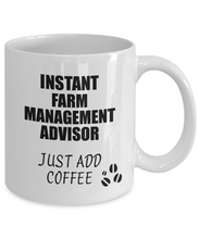Load image into Gallery viewer, Farm Management Advisor Mug Instant Just Add Coffee Funny Gift Idea for Coworker Present Workplace Joke Office Tea Cup-Coffee Mug