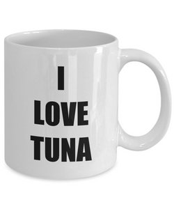 I Love Tuna Travel Mug Funny Gift Idea Novelty Gag Coffee Tea Cup-Coffee Mug