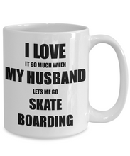 Load image into Gallery viewer, Skate Boarding Mug Funny Gift Idea For Wife I Love It When My Husband Lets Me Novelty Gag Sport Lover Joke Coffee Tea Cup-Coffee Mug