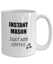 Load image into Gallery viewer, Mason Mug Instant Just Add Coffee Funny Gift Idea for Corworker Present Workplace Joke Office Tea Cup-Coffee Mug