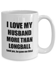 Load image into Gallery viewer, Longball Wife Mug Funny Valentine Gift Idea For My Spouse Lover From Husband Coffee Tea Cup-Coffee Mug