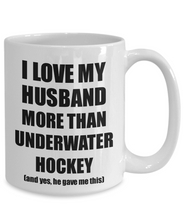 Load image into Gallery viewer, Underwater Hockey Wife Mug Funny Valentine Gift Idea For My Spouse Lover From Husband Coffee Tea Cup-Coffee Mug