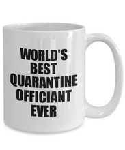 Load image into Gallery viewer, World's Best Quarantine Officiant Ever Mug Funny Self-Isolation Thank You Gift Idea Pandemic Joke Coffee Tea Cup-Coffee Mug