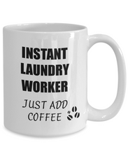Load image into Gallery viewer, Laundry Worker Mug Instant Just Add Coffee Funny Gift Idea for Corworker Present Workplace Joke Office Tea Cup-Coffee Mug