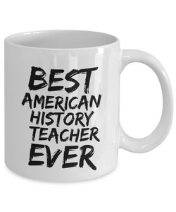 American History Teacher Mug Best Ever Funny Gift Idea for Novelty Gag Coffee Tea Cup-[style]