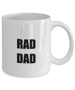 Rad Dad Mug Funny Gift Idea for Novelty Gag Coffee Tea Cup-[style]