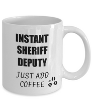 Load image into Gallery viewer, Sheriff Deputy Mug Instant Just Add Coffee Funny Gift Idea for Corworker Present Workplace Joke Office Tea Cup-Coffee Mug