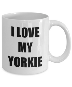I Love My Yorkie Mug Funny Gift Idea Novelty Gag Coffee Tea Cup-Coffee Mug