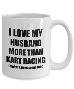 Kart Racing Wife Mug Funny Valentine Gift Idea For My Spouse Lover From Husband Coffee Tea Cup-Coffee Mug
