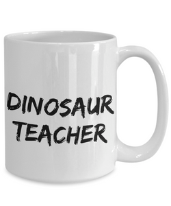 Dinosaur Teacher Mug Dino Funny Gift Idea for Novelty Gag Coffee Tea Cup-[style]