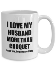 Load image into Gallery viewer, Croquet Wife Mug Funny Valentine Gift Idea For My Spouse Lover From Husband Coffee Tea Cup-Coffee Mug