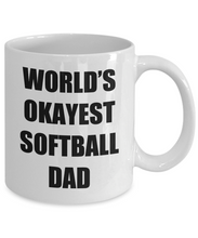 Load image into Gallery viewer, Softball Dad Mug Funny Gift Idea for Novelty Gag Coffee Tea Cup-Coffee Mug