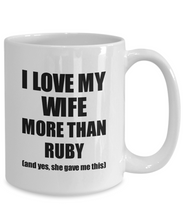 Load image into Gallery viewer, Ruby Husband Mug Funny Valentine Gift Idea For My Hubby Lover From Wife Coffee Tea Cup-Coffee Mug