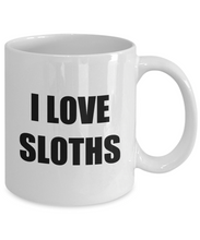 Load image into Gallery viewer, I Love Sloths Mug Funny Gift Idea Novelty Gag Coffee Tea Cup-Coffee Mug