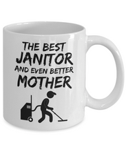 Load image into Gallery viewer, Janitor Mom Mug - Best Janitor Mother Ever - Funny Gift for Janitor Mama-Coffee Mug