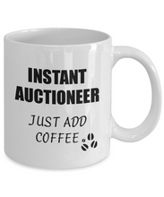 Load image into Gallery viewer, Auctioneer Mug Instant Just Add Coffee Funny Gift Idea for Corworker Present Workplace Joke Office Tea Cup-Coffee Mug