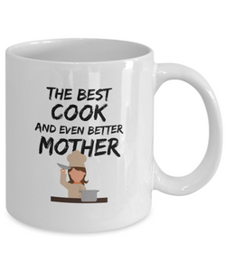 Cook Mom Mug Best Mother Funny Gift for Mama Novelty Gag Coffee Tea Cup-Coffee Mug