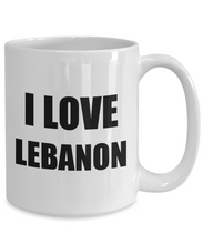 Load image into Gallery viewer, I Love Lebanon Mug Funny Gift Idea Novelty Gag Coffee Tea Cup-Coffee Mug