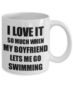 Swimming Mug Funny Gift Idea For Girlfriend I Love It When My Boyfriend Lets Me Novelty Gag Sport Lover Joke Coffee Tea Cup-Coffee Mug