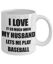 Load image into Gallery viewer, Baseball Mug Funny Gift Idea For Wife I Love It When My Husband Lets Me Novelty Gag Sport Lover Joke Coffee Tea Cup-Coffee Mug