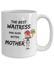 Load image into Gallery viewer, Waitress Mom Gift Best Mother Funny Mug for Mama Novelty Gag Coffee Tea Cup-Coffee Mug