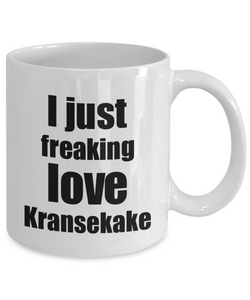 Kransekake Lover Mug I Just Freaking Love Funny Gift Idea For Foodie Coffee Tea Cup-Coffee Mug