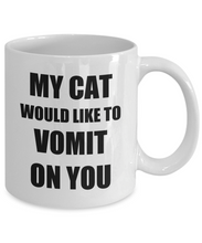 Load image into Gallery viewer, Cat Vomit Mug Throw Up Funny Gift Idea for Novelty Gag Coffee Tea Cup-[style]