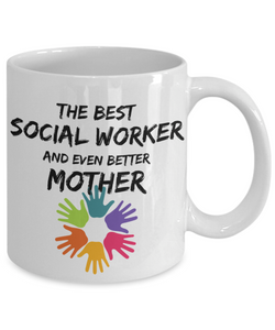 Socialworker Mom Mug Best Social Worker Mother Funny Gift for Mama Novelty Gag Coffee Tea Cup-Coffee Mug