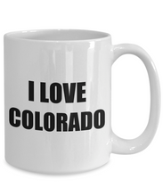 Load image into Gallery viewer, I Love Colorado Mug Funny Gift Idea Novelty Gag Coffee Tea Cup-Coffee Mug