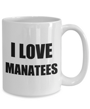 Load image into Gallery viewer, I Love Manatees Mug Funny Gift Idea Novelty Gag Coffee Tea Cup-Coffee Mug