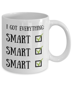 Smart Boyfriend Mug Funny Gift for Girlfriend Gag Husband Present Wife Joke Coffee Tea Cup-Coffee Mug