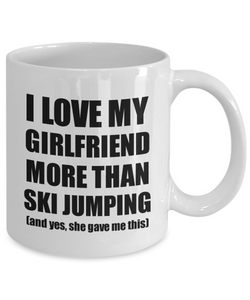 Ski Jumping Boyfriend Mug Funny Valentine Gift Idea For My Bf Lover From Girlfriend Coffee Tea Cup-Coffee Mug