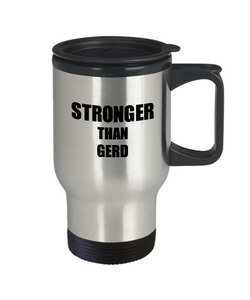 GERD Travel Mug Awareness Survivor Gift Idea for Hope Cure Inspiration Coffee Tea 14oz Commuter Stainless Steel-Travel Mug