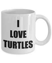 Load image into Gallery viewer, I Love Turtles Mug Funny Gift Idea Novelty Gag Coffee Tea Cup-Coffee Mug