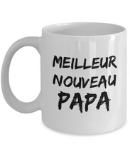Load image into Gallery viewer, Cadeau Pour Nouveau Papa New Dad Mug In French Funny Gift Idea for Novelty Gag Coffee Tea Cup-[style]