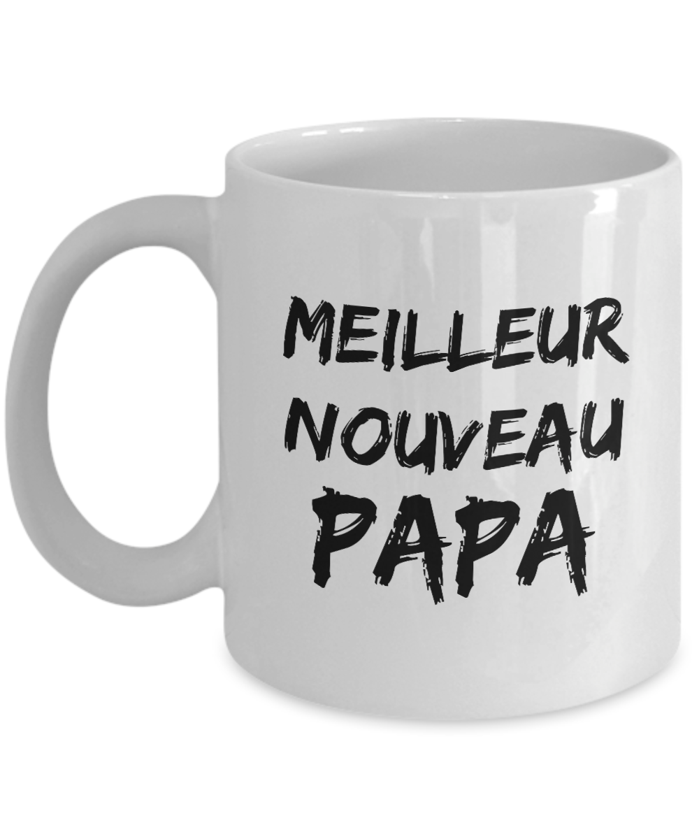 Cadeau Pour Nouveau Papa New Dad Mug In French Funny Gift Idea for Novelty Gag Coffee Tea Cup-[style]