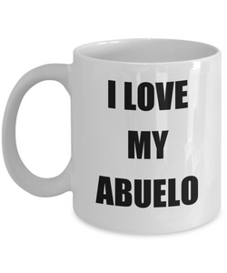 I Love My Abuelo Mug Funny Gift Idea Novelty Gag Coffee Tea Cup-Coffee Mug