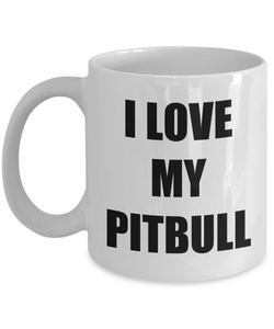 I Love My Pitbull Mug Funny Gift Idea Novelty Gag Coffee Tea Cup-Coffee Mug