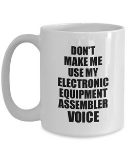 Electronic Equipment Assembler Mug Coworker Gift Idea Funny Gag For Job Coffee Tea Cup Voice-Coffee Mug