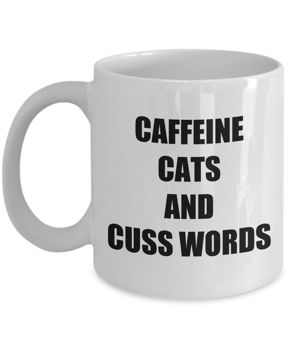 Cafeine Cats And Cuss Words Mug Funny Gift Idea for Novelty Gag Coffee Tea Cup-[style]