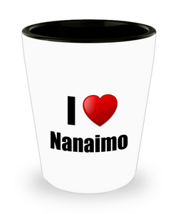 Nanaimo Shot Glass I Love City Lover Pride Funny Gift Idea for Liquor Lover Alcohol 1.5oz Shotglass-Shot Glass