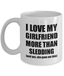Sledding Boyfriend Mug Funny Valentine Gift Idea For My Bf Lover From Girlfriend Coffee Tea Cup-Coffee Mug